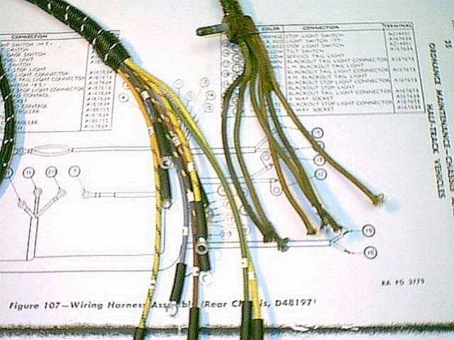 Wiring harness for jeeps and auto projects. Cloth covered wire parts and full vintage wiring harness available in stock.